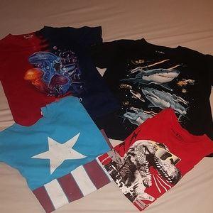 Bundle of 4 boys shirts